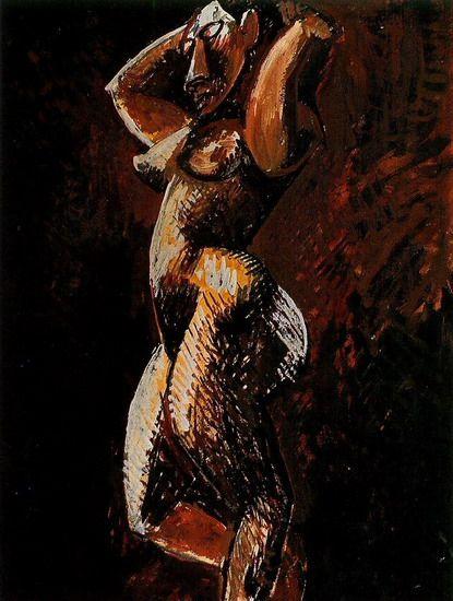 """Pablo Picasso - """"Nude woman profile"""", 1908"""