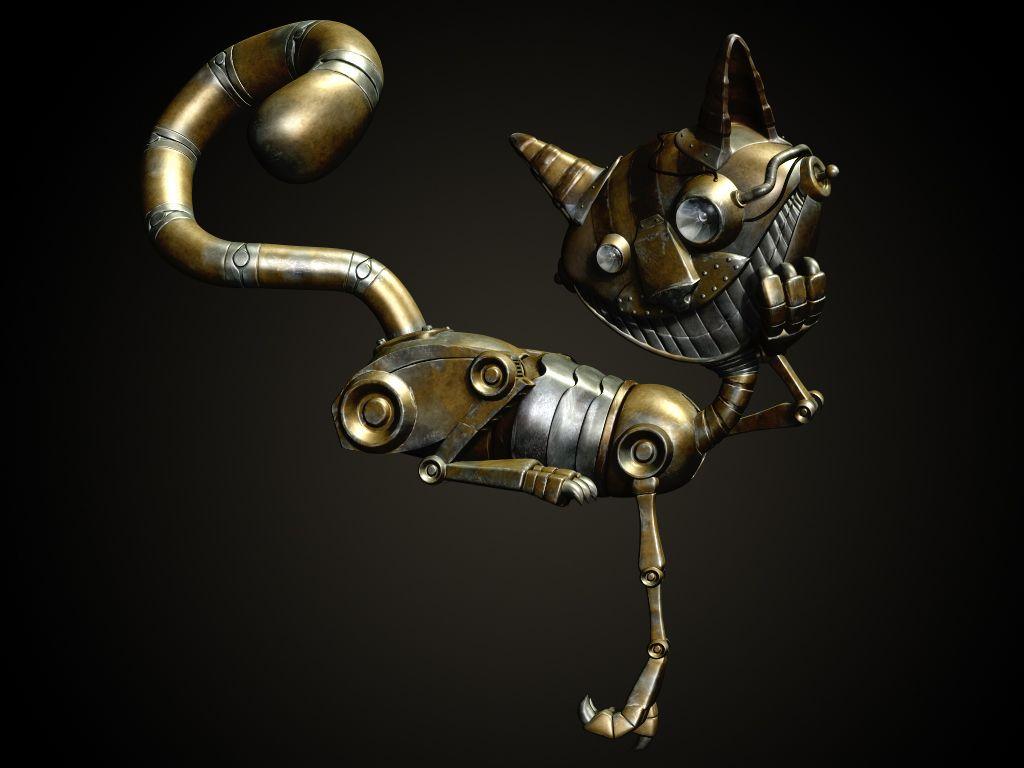 Steam punk Mechanical Cat by M1KES