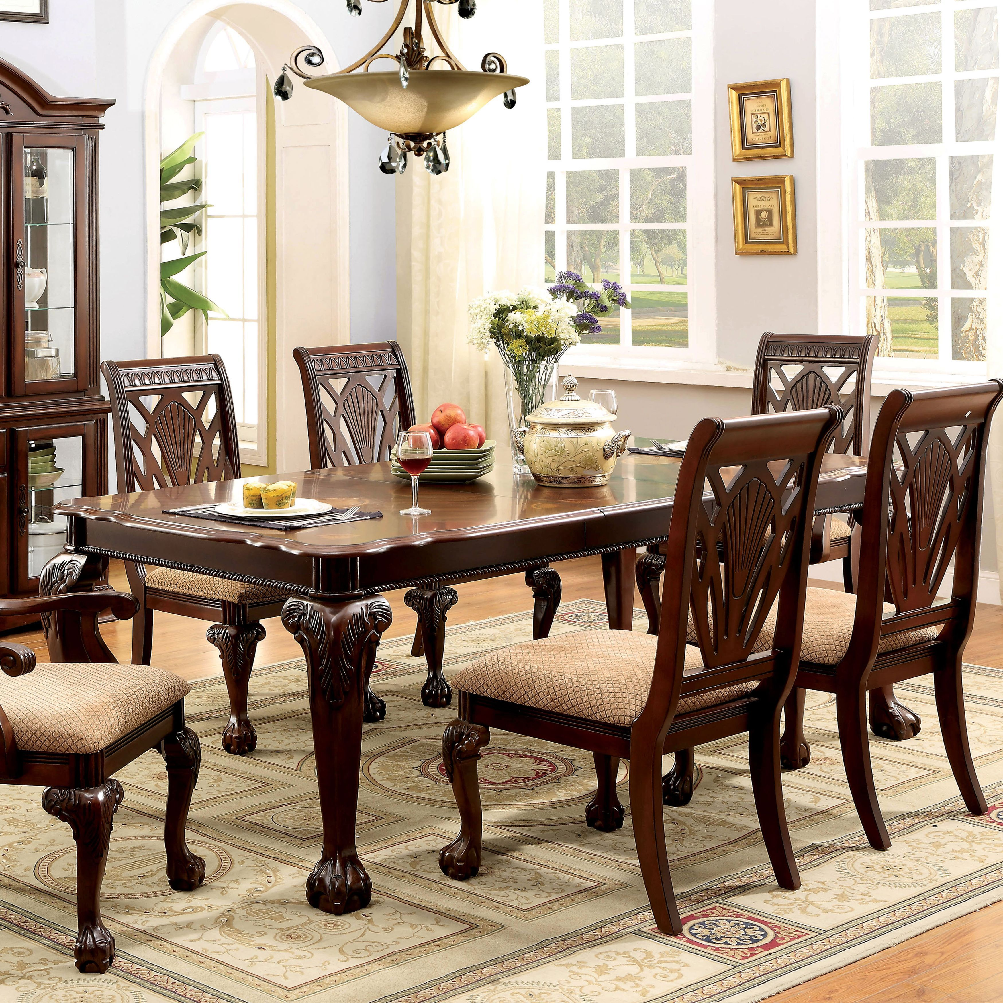 Furniture Of America Ranfort Formal 82 Dining Table Dining