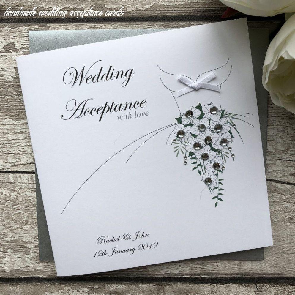 10 Handmade Wedding Acceptance Cards In 2020 Wedding Acceptance Card Handmade Wedding Cards