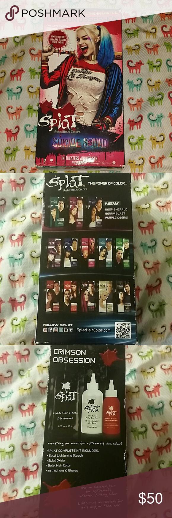 Splat Limit Edition Harley Batman Hair Dye Bleach Splat Hair Dye Kit Nwt New Box Not Used Has A Collectors Comi Harley Batman Splat Hair Dye Collectors Item
