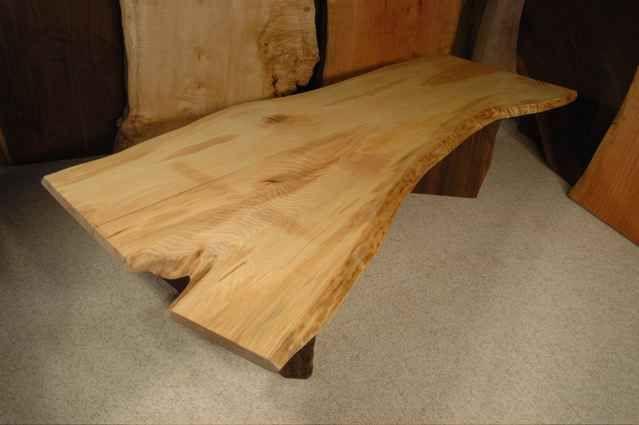Ash Slab Coffee Table | Dumond\'s Custom Furniture | Pinterest ...