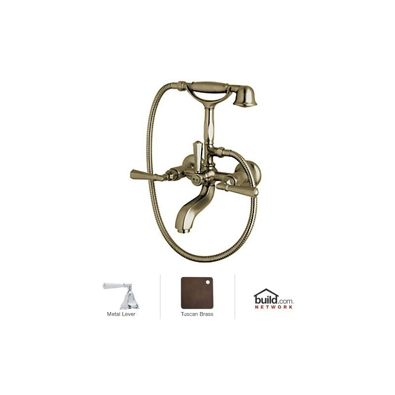 Rohl A1901LM Palladian Exposed Wall Mounted Tub and Shower Mixer with Single Fun