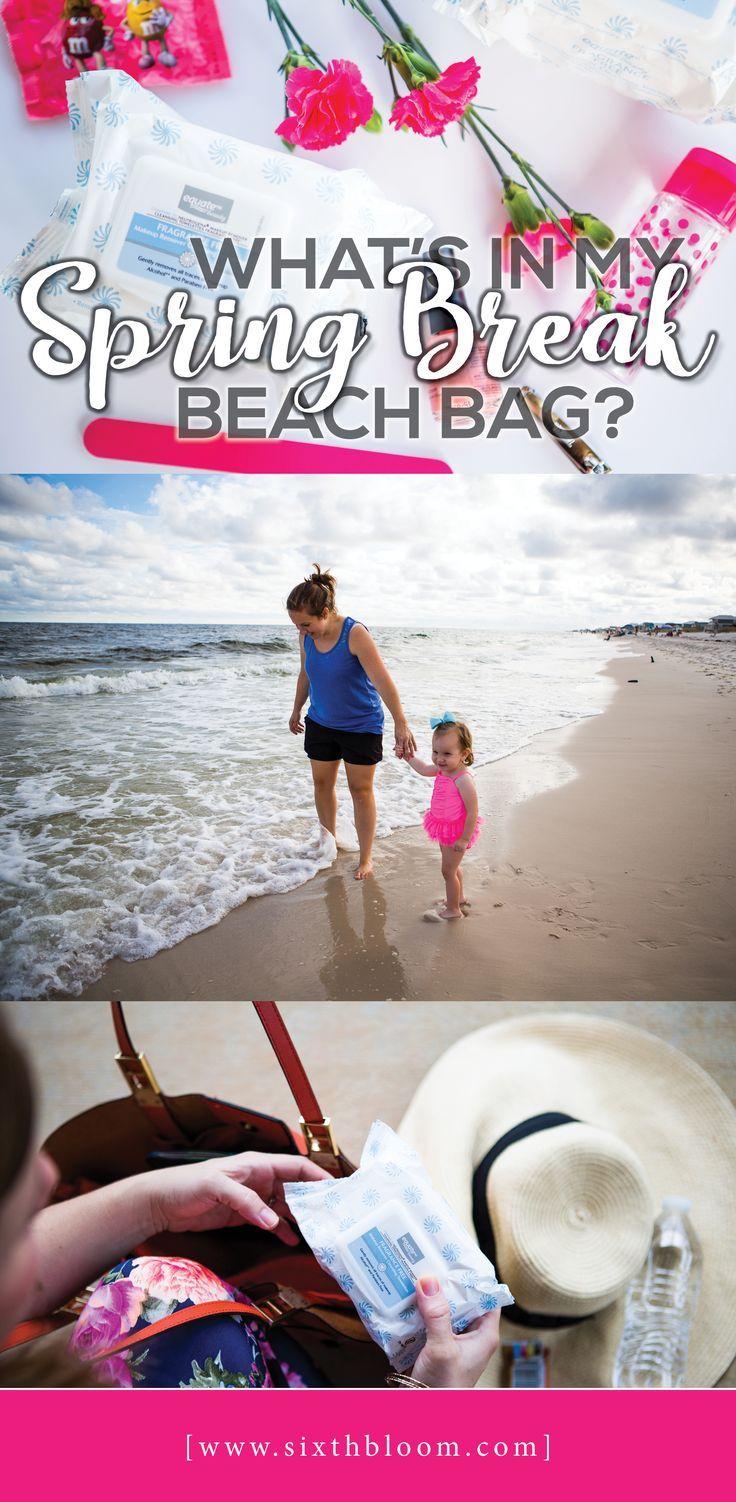 Beach Bag, Spring Break Trip, Packing Equate Beauty