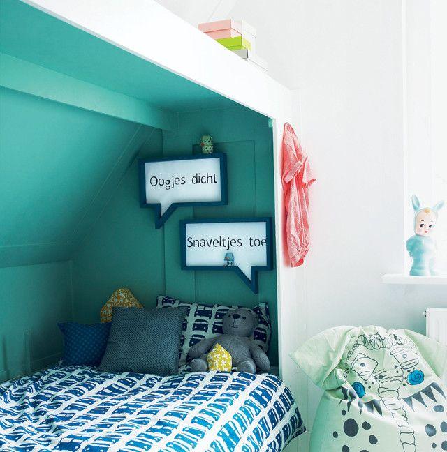 Alcove turquoise pour lit d\'enfant | KIDS | Pinterest | Alcôve ...