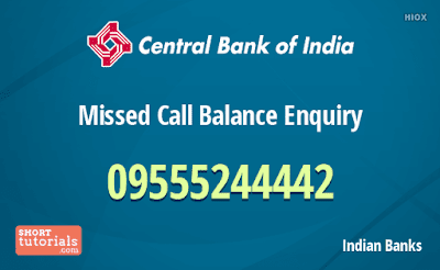 central bank of india toll free number for balance inquiry