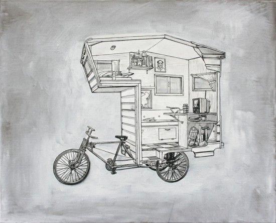 camper bike fahrrad wohnwagen fahrrad und campingideen. Black Bedroom Furniture Sets. Home Design Ideas