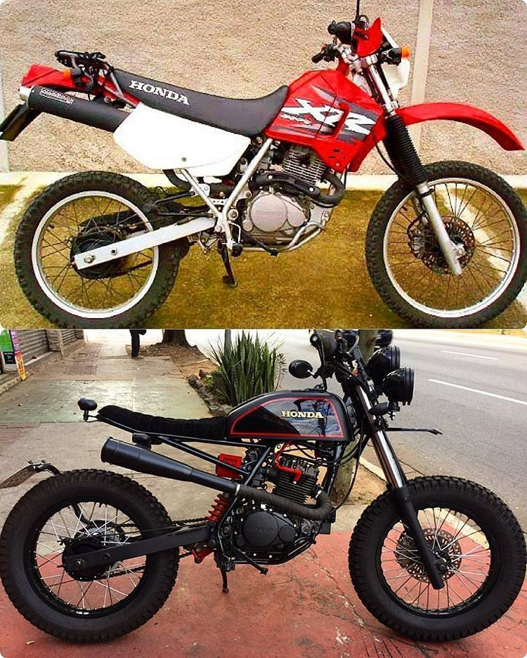 Before After By C2r Custom Honda Xr 200 Scrambler We Support The Tracker Scrambler Community And Celeb Honda Scrambler Cafe Racer Bikes Tracker Motorcycle