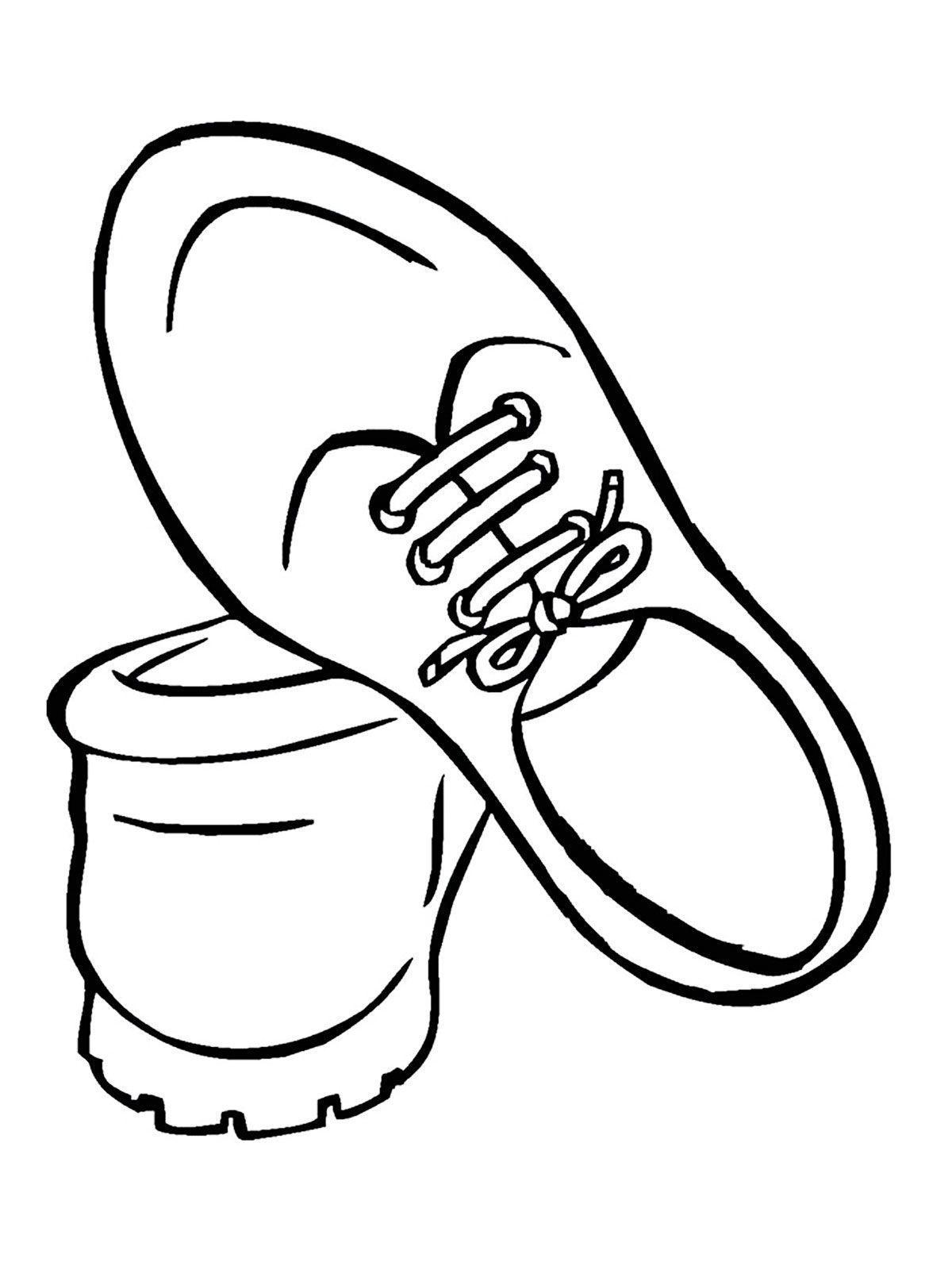 Картинка раскраска туфли для детей