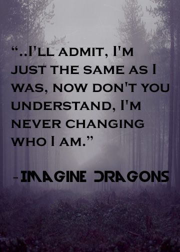 From Imagine Dragons It Funny How Lyrics Can Make A Person Think