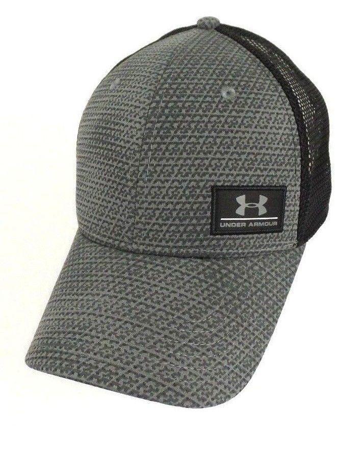 c381d7668077d ... cheap under armour mens ua grey black trucker cap mesh back snapback  adjustable hat underarmour baseballcapsnapback
