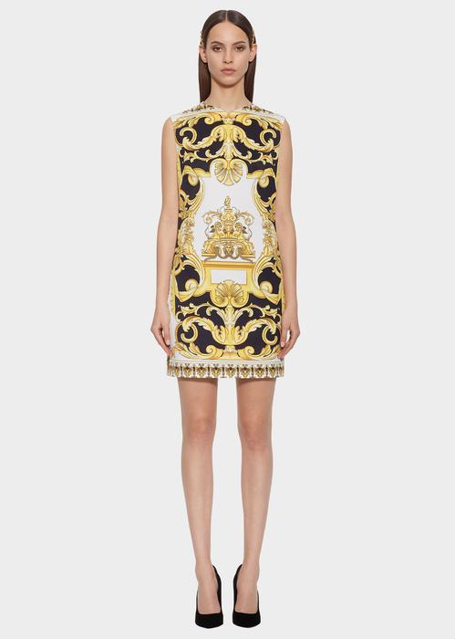 Versace Barocco Printed Dress