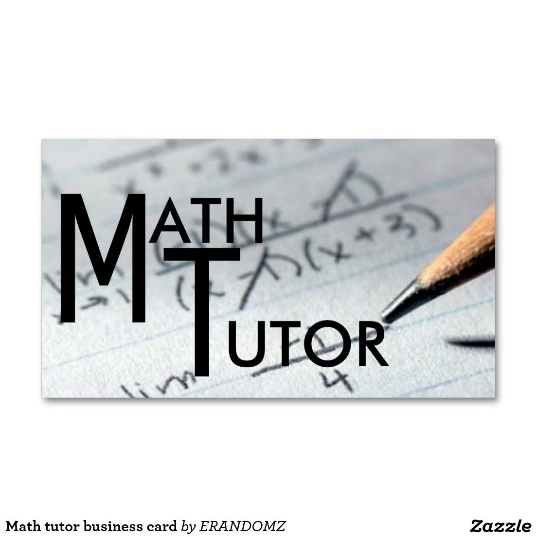Math tutor business card | Math tutor, Business cards and Math