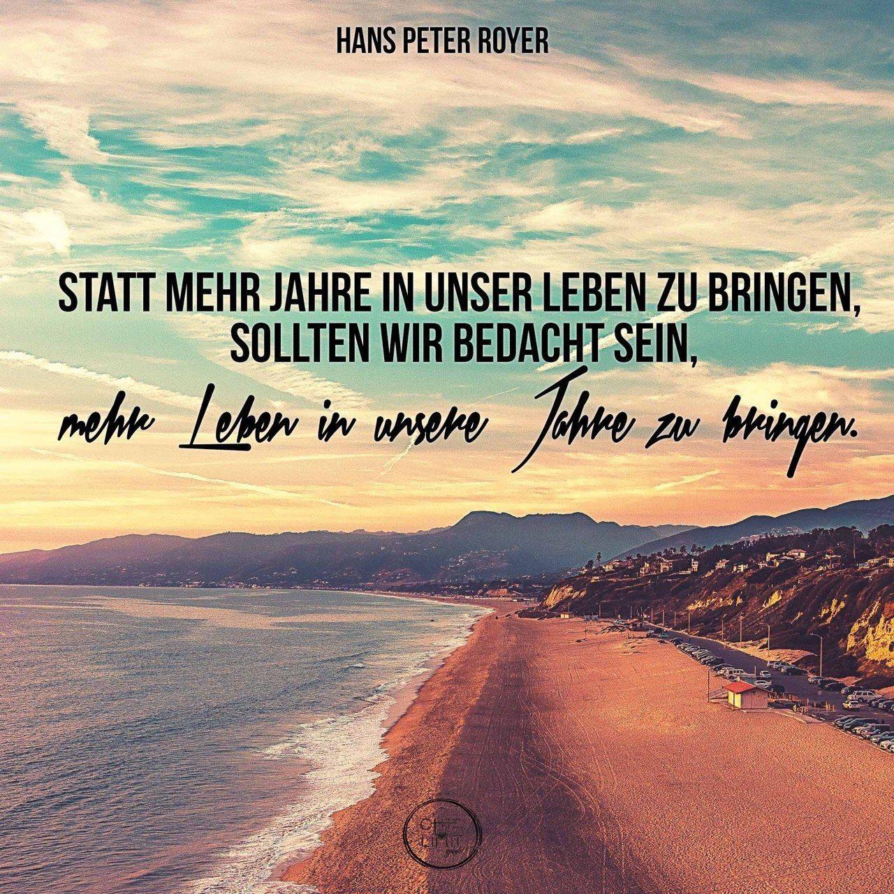 #impuls#leben#jahre#zitat#hanspeterroyer | German | Bible ...