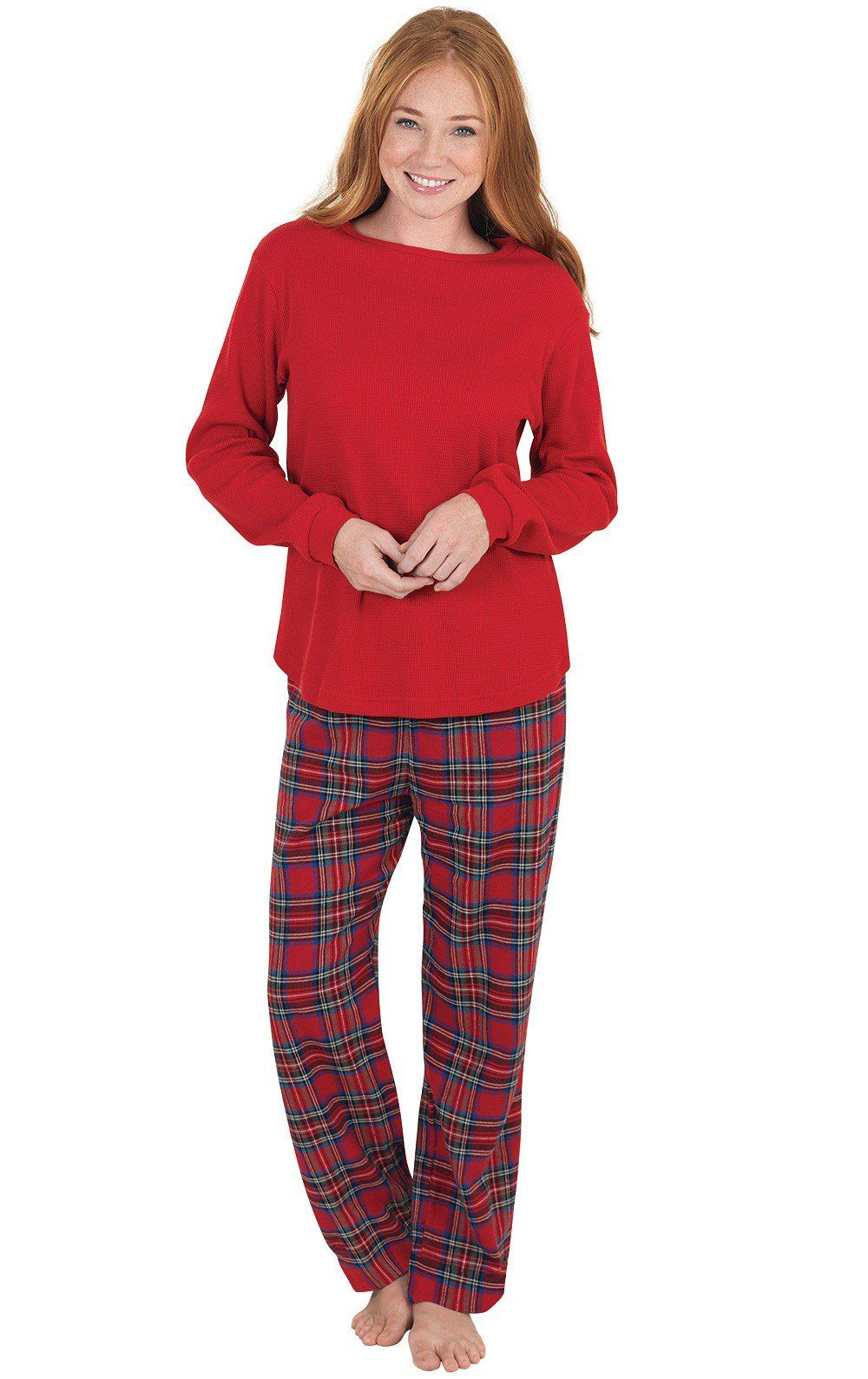 c2b5341d114 Stewart Plaid Thermal-Top Women s Pajamas in 2019