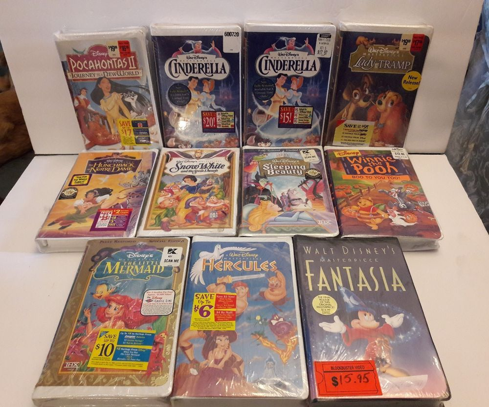 Walt Disney Vhs Lot Of 11 New Sealed Rare Limited Edition Special