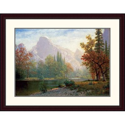 "Global Gallery 'Half Dome: Yosemite' by Albert Bierstadt Framed Painting Print Size: 29.45"" H x 38"" W x 1.5"" D"
