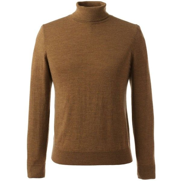 Lands End Mens Classic Merino Turtleneck 350 Ron Liked On