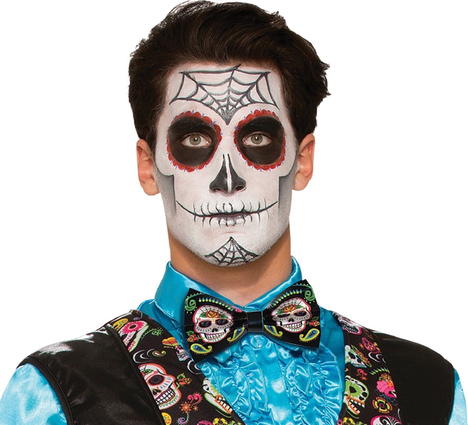 Mens Day Of The Dead Halloween Fancy Dress Costume Outfit