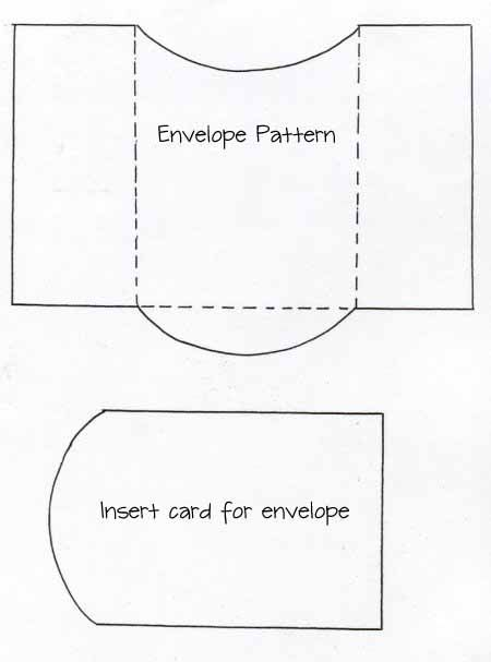 envelope and card insert template Paper Crafts Pinterest