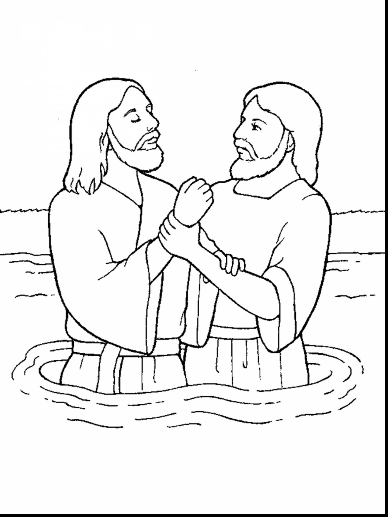 Superb John The Baptist Coloring Pages For Kids With Baptism