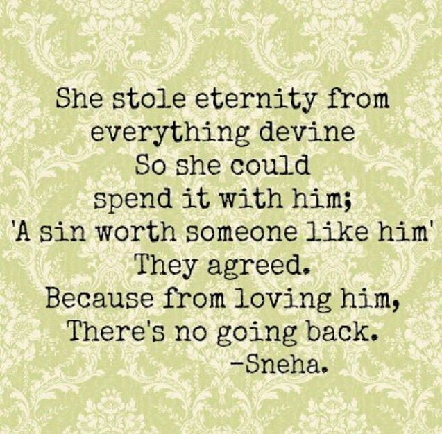 From loving him there's no going back