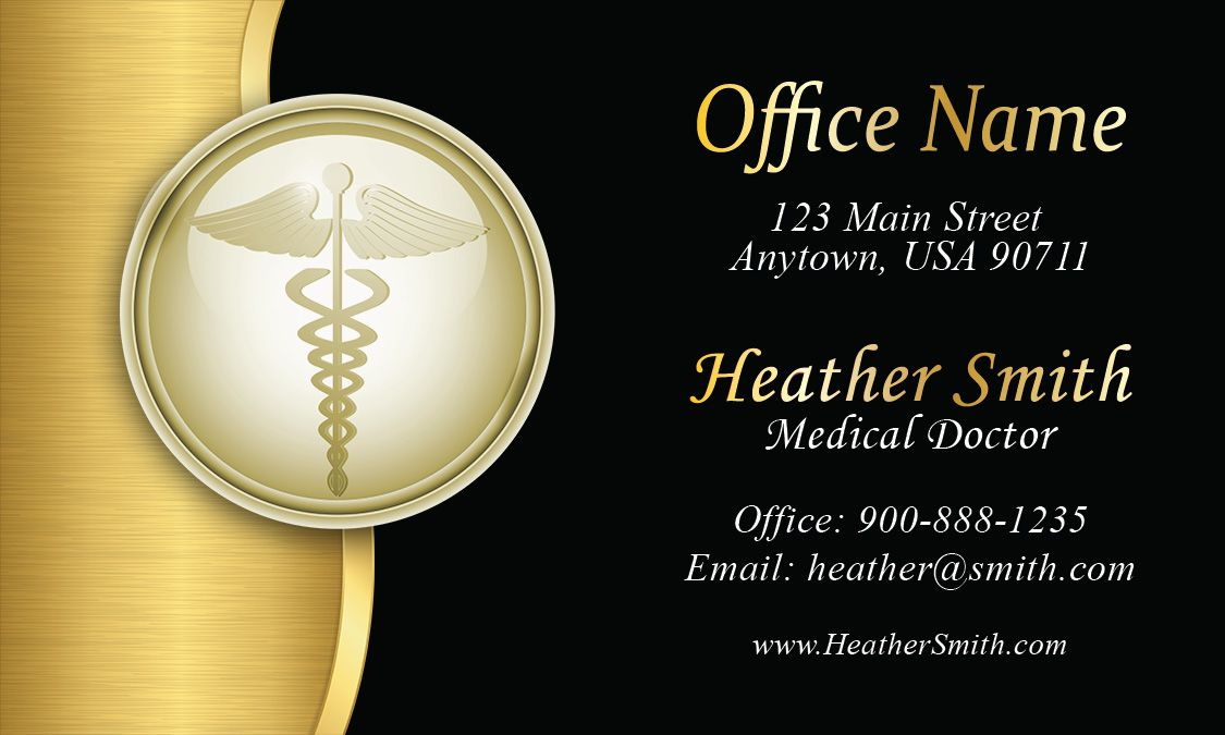 Gold Medical Doctor Business Card Design 301351 Doctor Business Cards Medical Business Card Transparent Business Cards