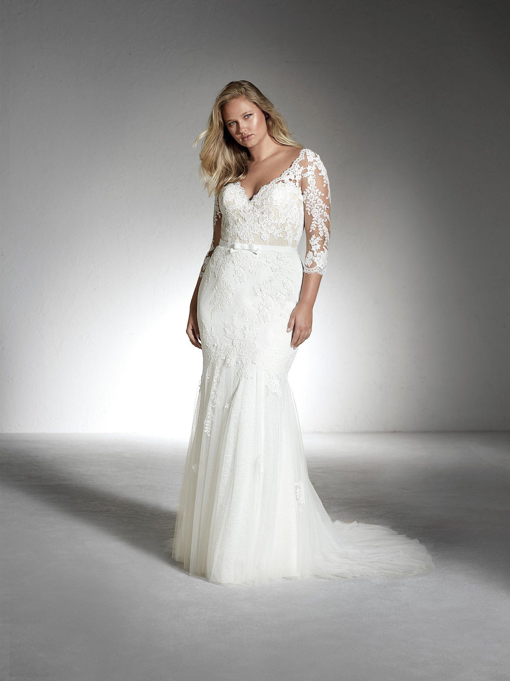 Cheap wedding dresses plus size  FE PLUS Vneck plussize wedding dress with rhinestones cheap  St