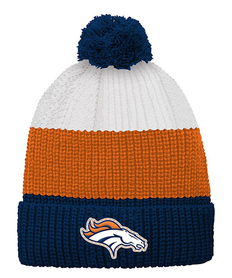 super popular e092c c89ab Look at this Denver Broncos Vintage-Inspired Ribbed Pom-Pom Beanie - Kids  on  zulily today!