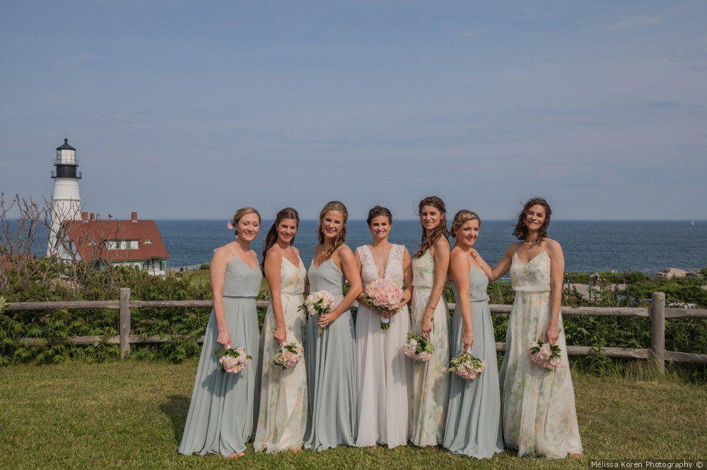 Chris And Jill S Wedding In Portland Maine Bridesmaid Dresses Bridesmaid Bridesmaid Gown