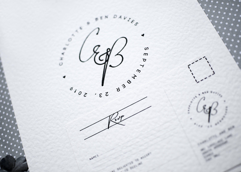 Classic wedding invites, postcard RSVP wedding printables, custom ...