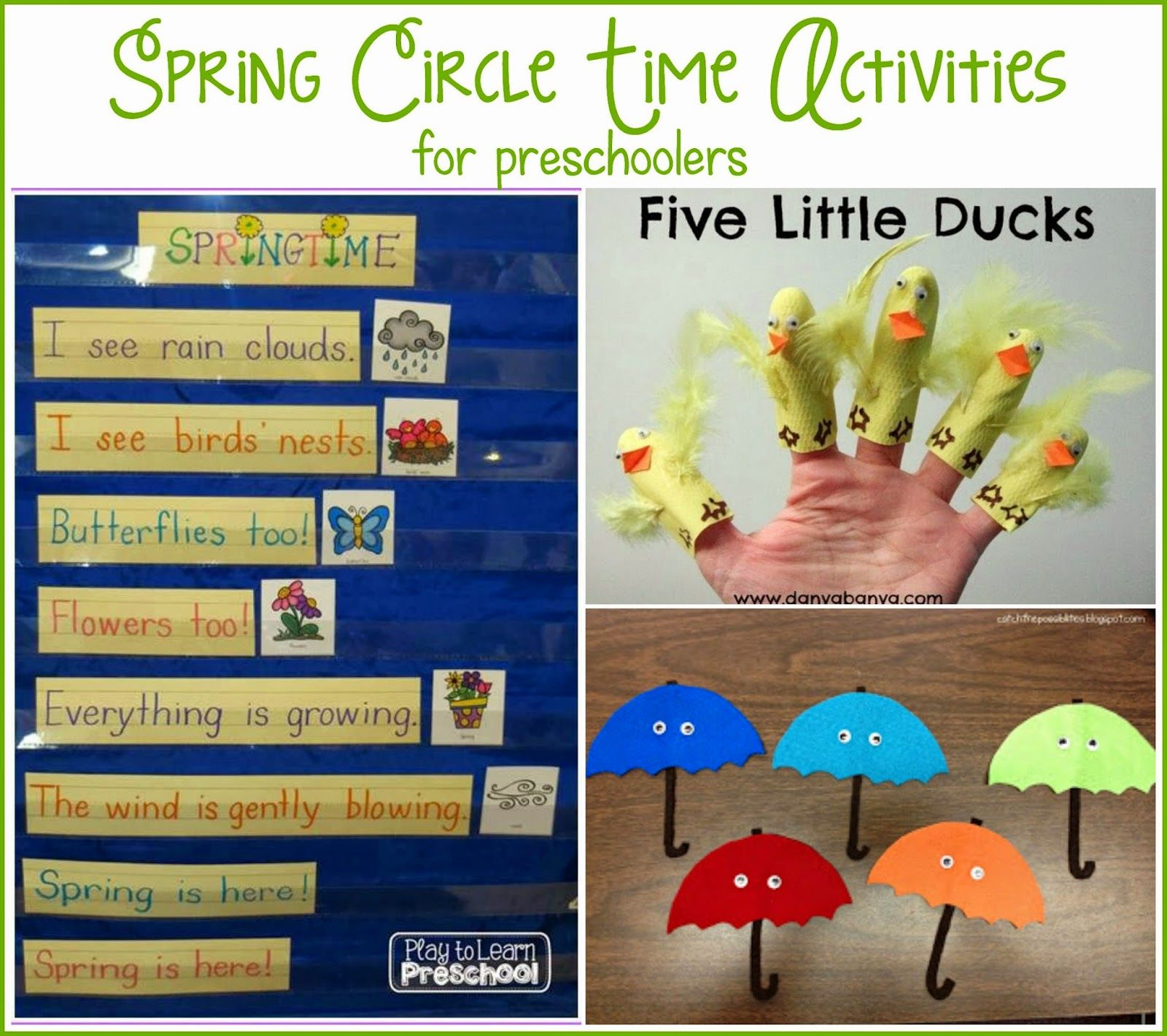 Fun Preschool Circle Time Activities For Preschoolers