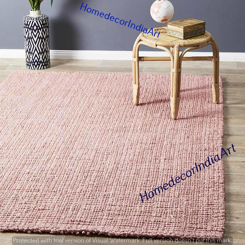 Handmade Indian Braided Floor Rug Dari Rug Natural Jute Etsy In 2020 Solid Area Rugs Floor Rugs Natural Rug