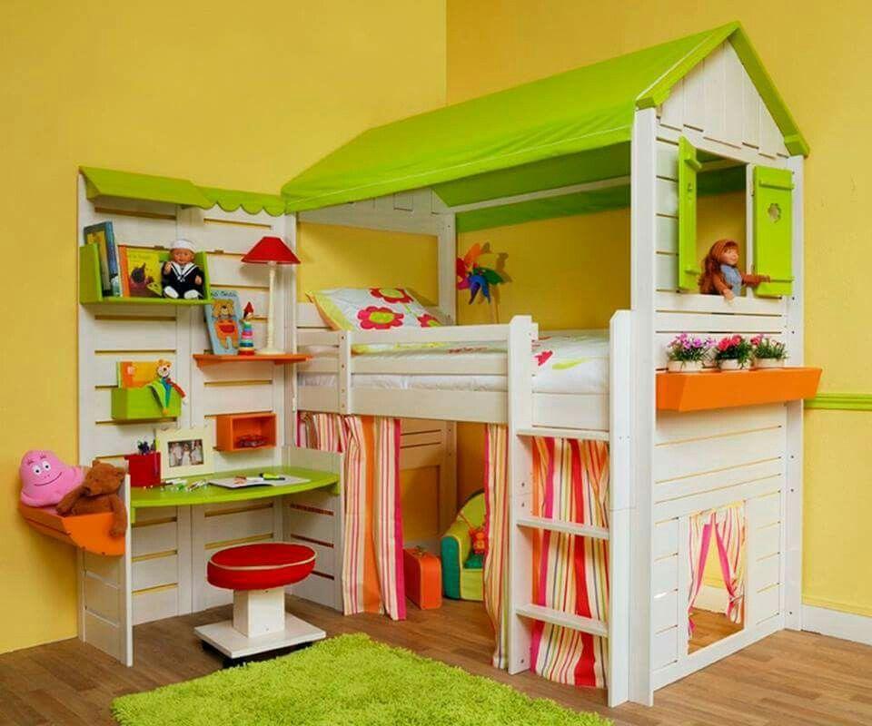 Kinderzimmer, Schlafzimmerdeko, Spielhäuser, Hochbetten, Etagenbetten, Haus  Betten, Ideen Fürs Zimmer, Kleinkinderzimmer, Kleinkinder Zimmer