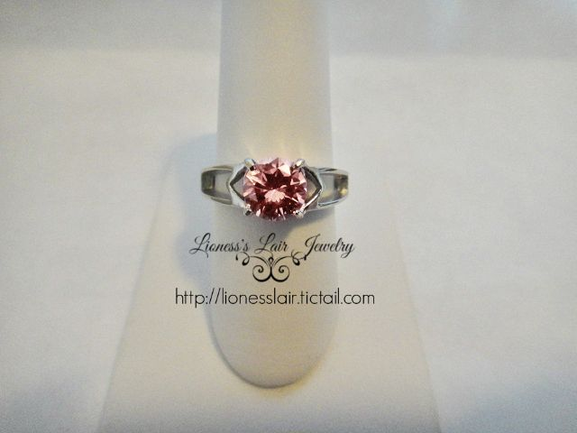 Pretty Pink Stainless Steel Ring. Starting at $4