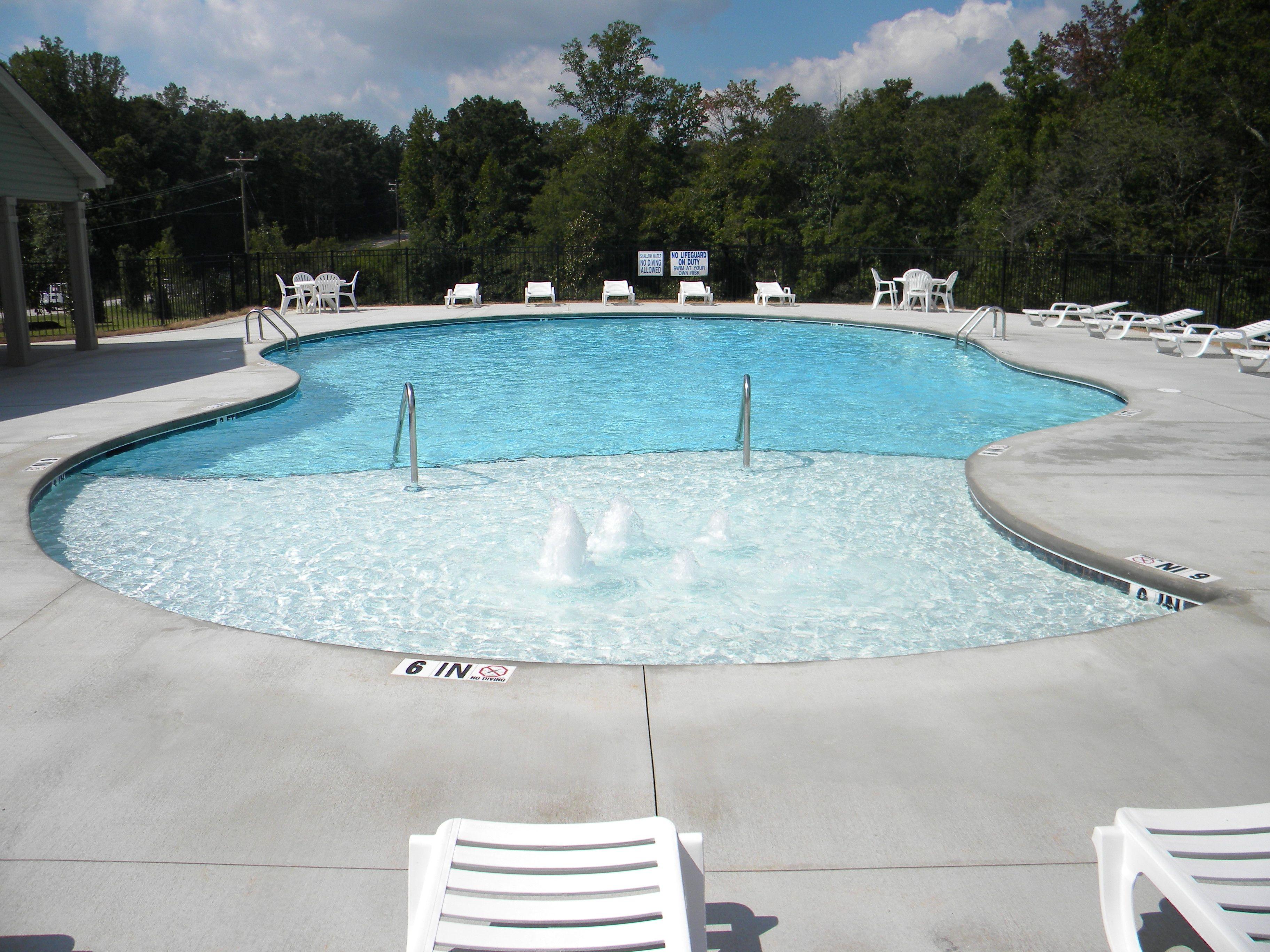 Gunite pool with sun deck | Commercial Pools | Gunite pool ...