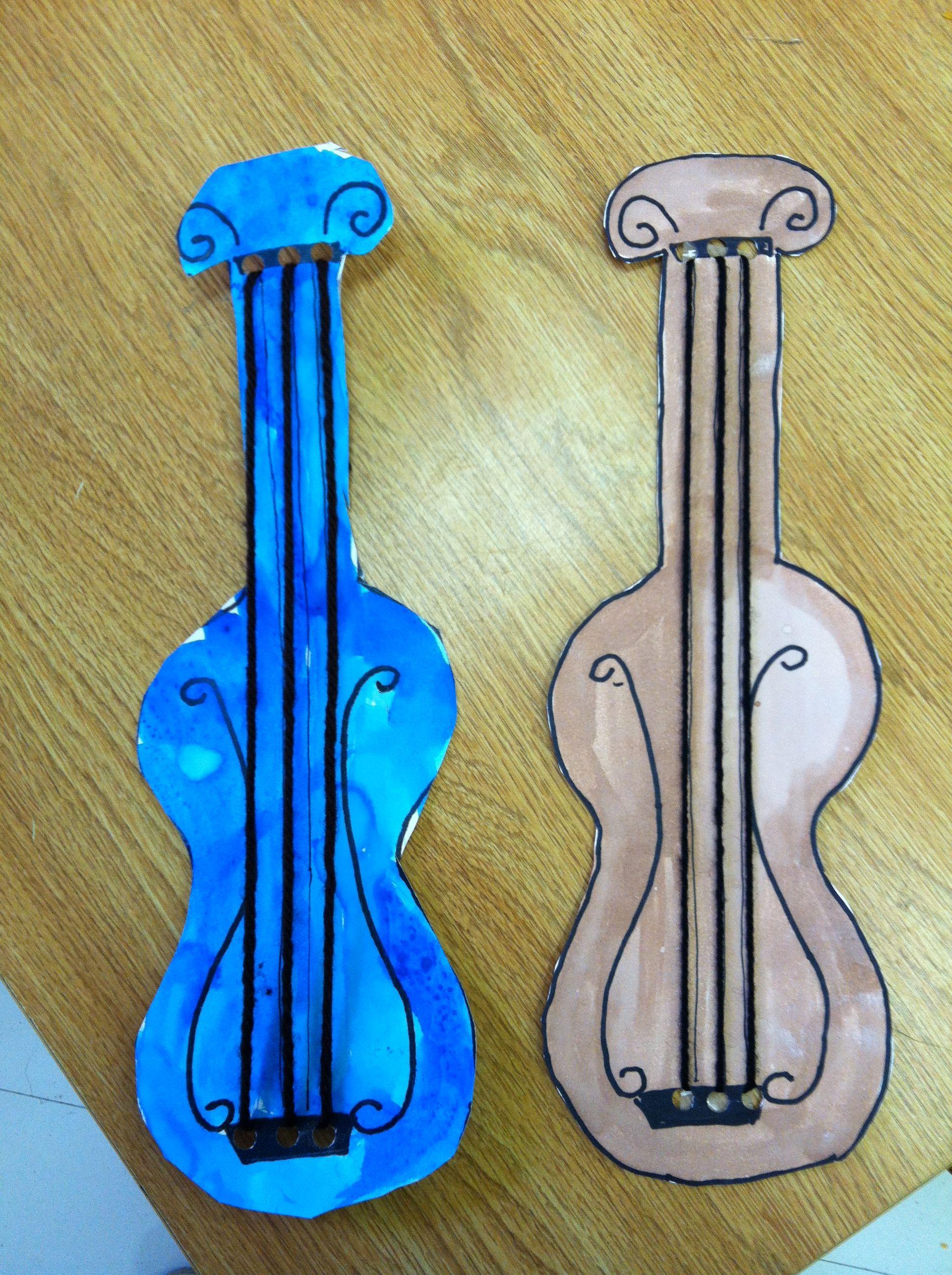 Violin Letter V Craft