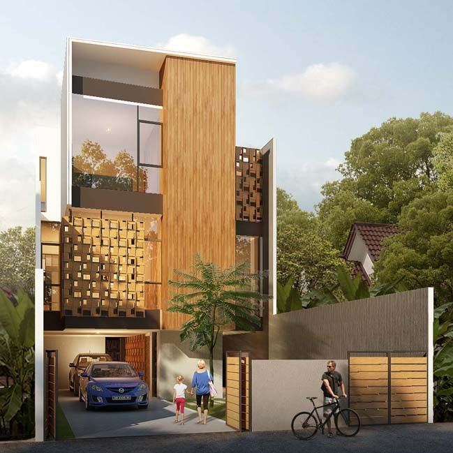 House Of Melati: Modern Townhouse In Indonesia