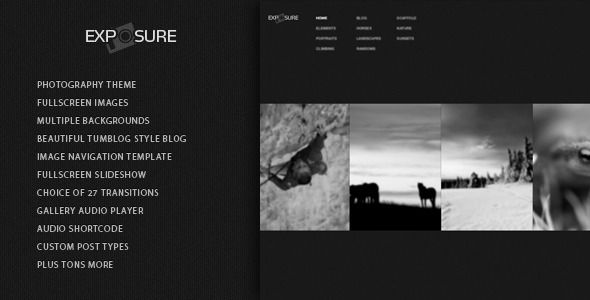 Exposure Responsive Photography #Wordpress Theme | Web design and ...