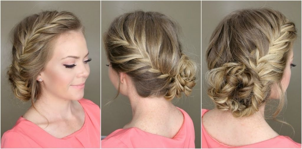 Pin By Stephanie Huggins On Bridemaid Latest Braided Hairstyles Simple Prom Hair Bridemaids Hairstyles