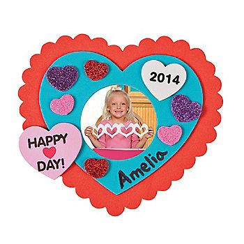 Show some love with these foam Valentine Picture Frame Craft Kits ...