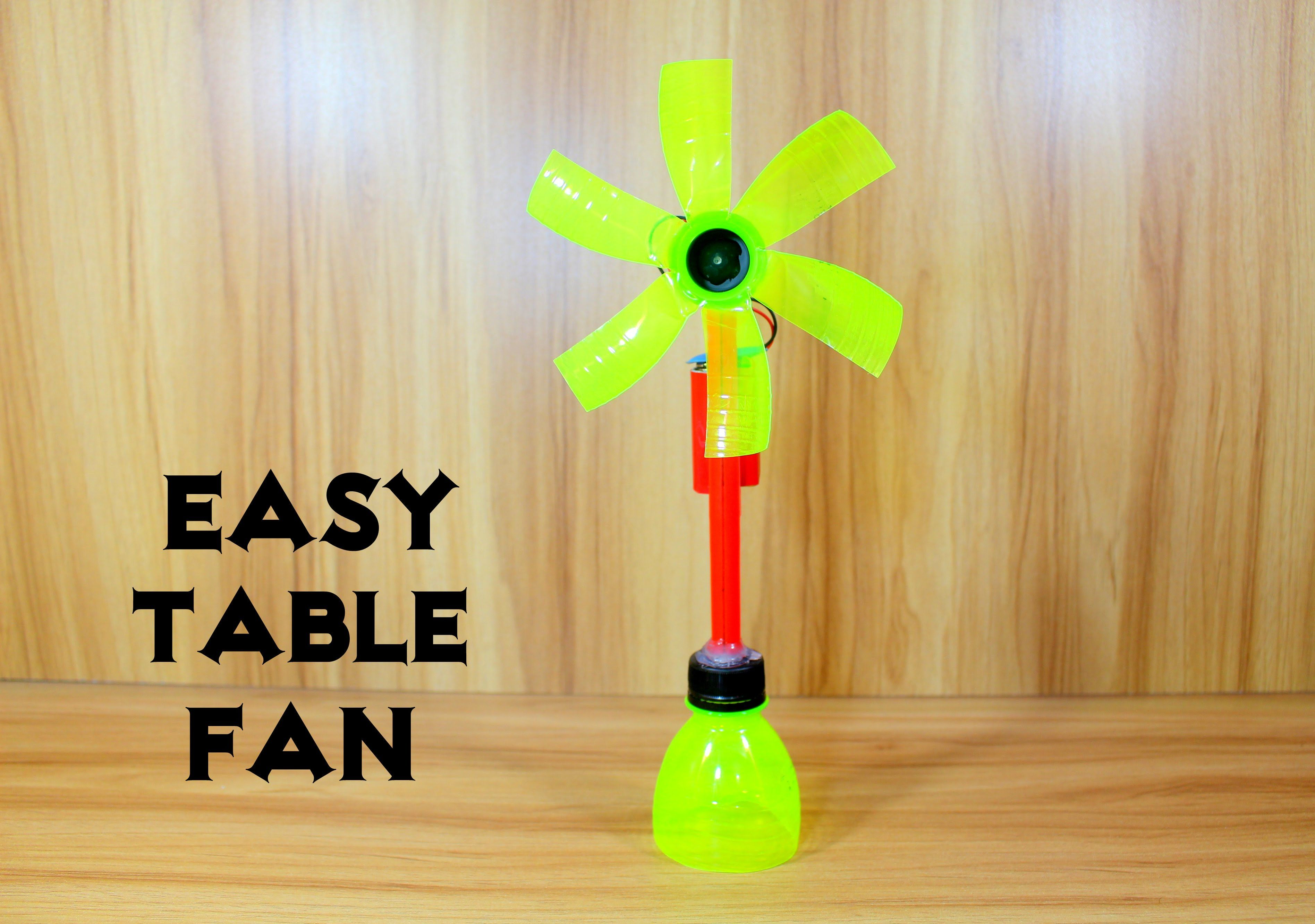 How to Make an Electric Table Fan