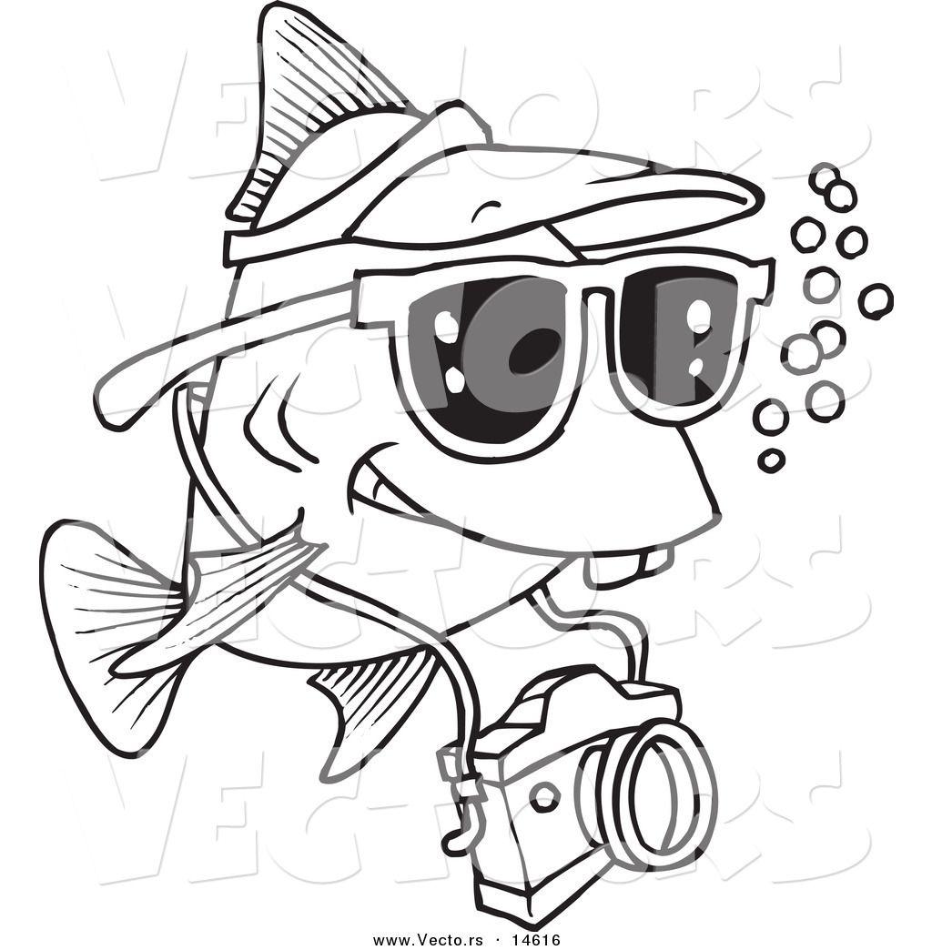 funny tourist fish Royalty Free Tourism Stock Designs ...