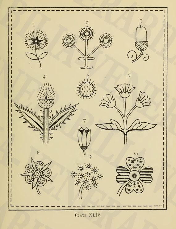 1917 Collection of 202 Vintage Embroidery by LithograghLibrary ...