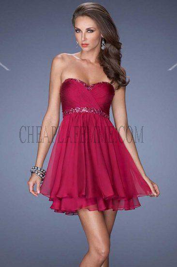 Short Cranberry Dress