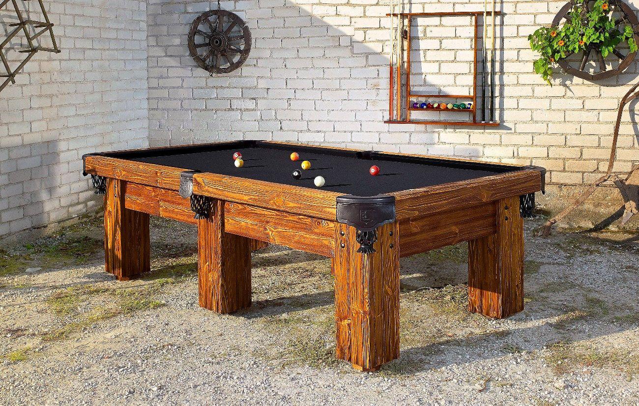 Rustic Pool TableRocky Mountain BilliardsRustic Man Cave - Ponderosa pool table