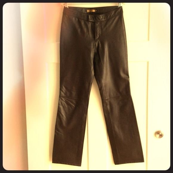 Brown Leather Pants Soft, supple, genuine leather. Half lined. Great fit. Previously worn, excellent condition. Is this your size? See several other leather pants in my closet. Clearing out, bundle for discount. Rem Garson Pants