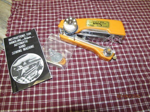 Vintage Sun Automatic Hand Sewing Machine Kit Instructions By Inspiration Sun Hand Sewing Machine