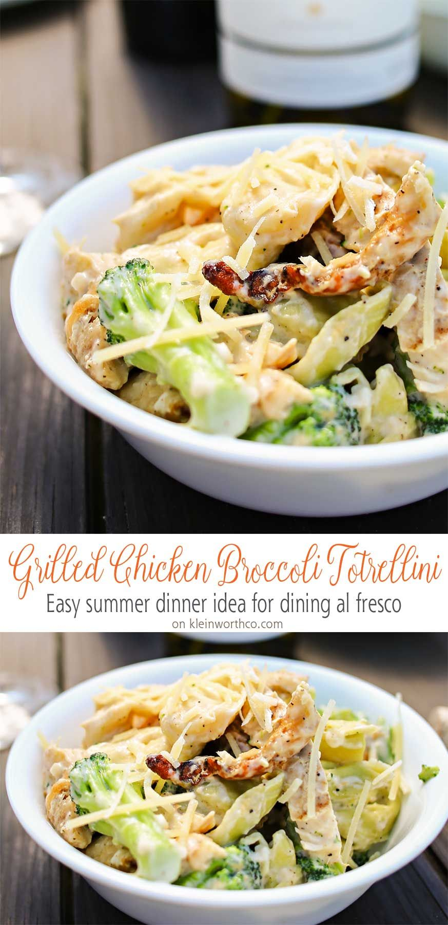 Grilled Chicken, Broccoli  Tortellini In A Creamy Garlic -8147