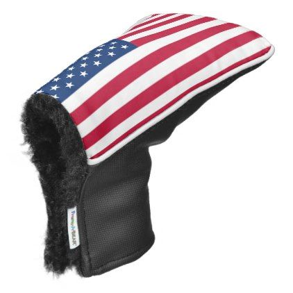 #America flag American USA Golf Head Cover - #LaborDay Labor Day #labor #day #patriotic #summer #barbecue #bbq #party